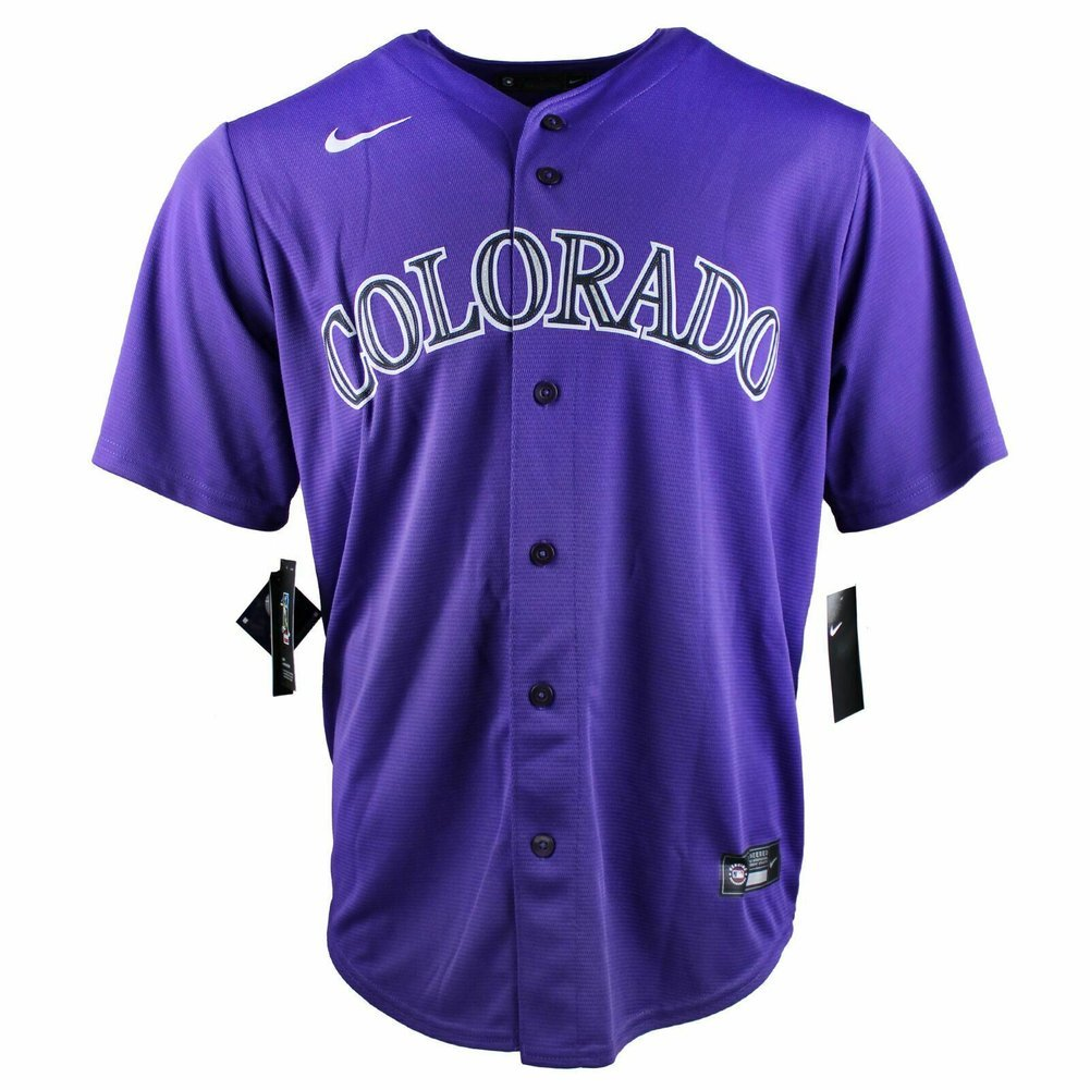 Nolan Arenado Autographed Signed Authentic Purple Rockies Nike Jersey Fanatics Auth Image a