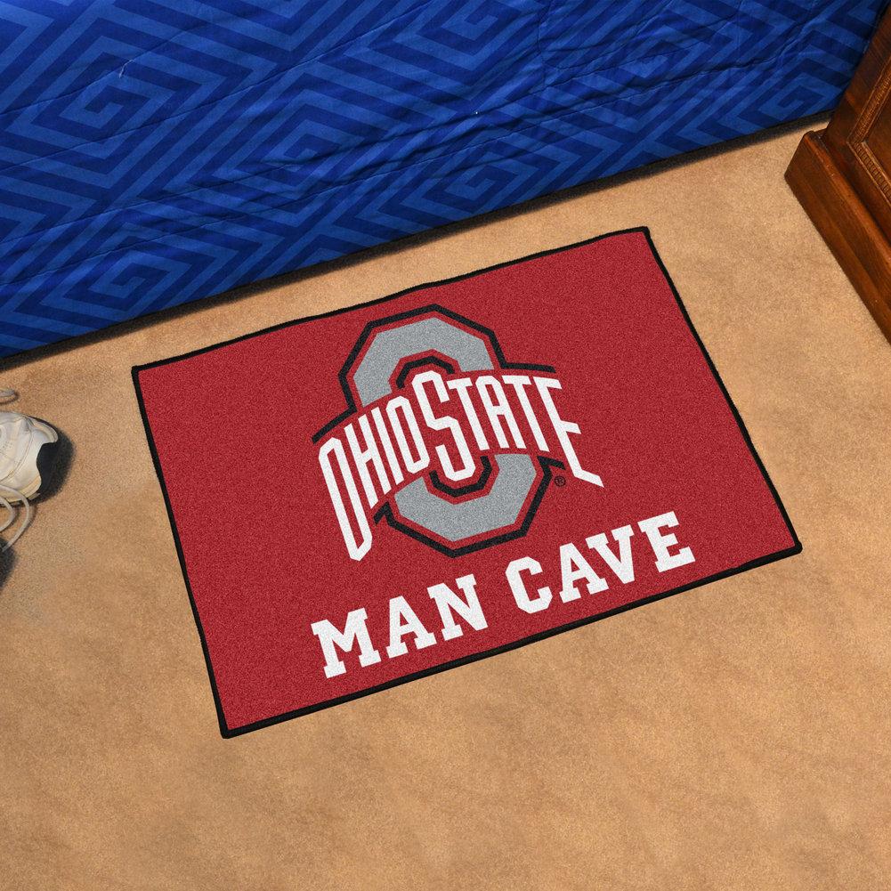 Ohio State Man Cave Starter Decor Area Rug 19 X 30 Ohio