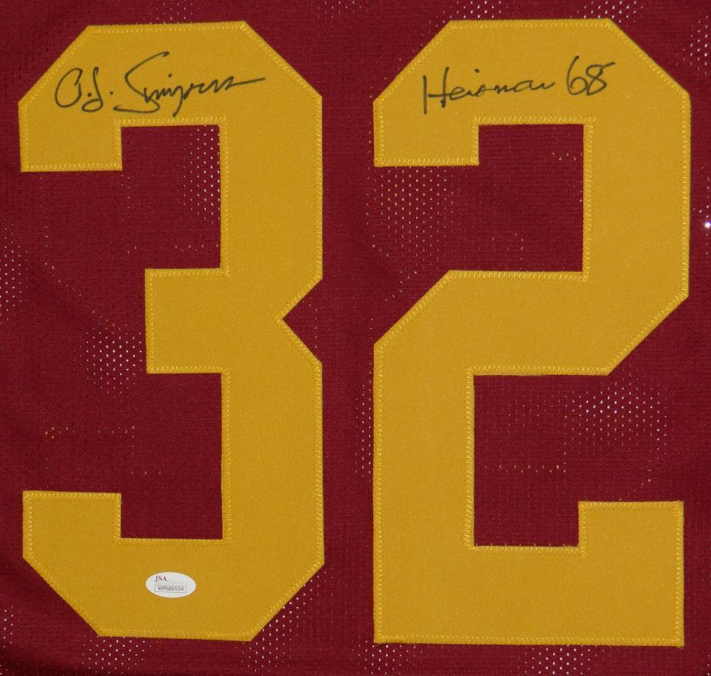 new products e822e 8c408 OJ Simpson Autographed Signed Maroon College Style Jersey ...