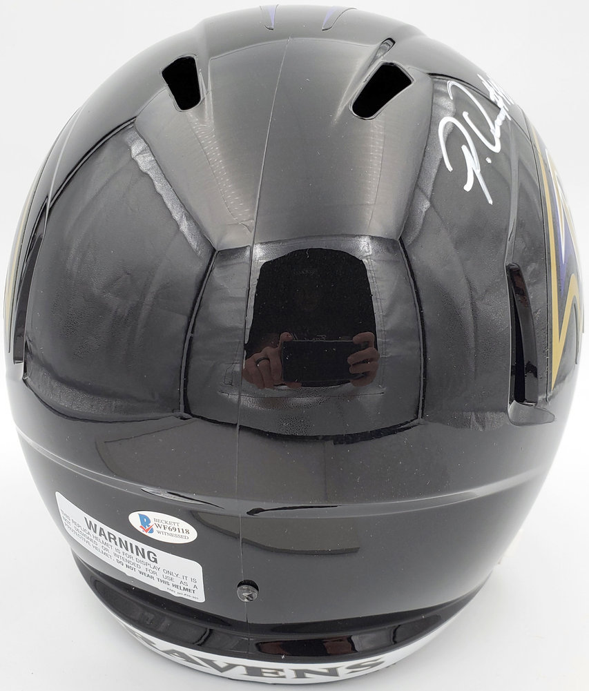 Patrick Queen Autographed Signed Baltimore Ravens Full Size Speed Replica Helmet Beckett BAS Image a