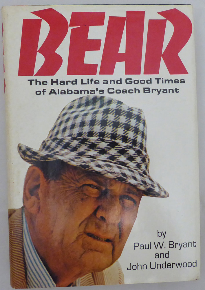 Paul Bear Bryant Autographed Signed Memorabilia Book Alabama Crimson Tide - Beckett Authentic Image a