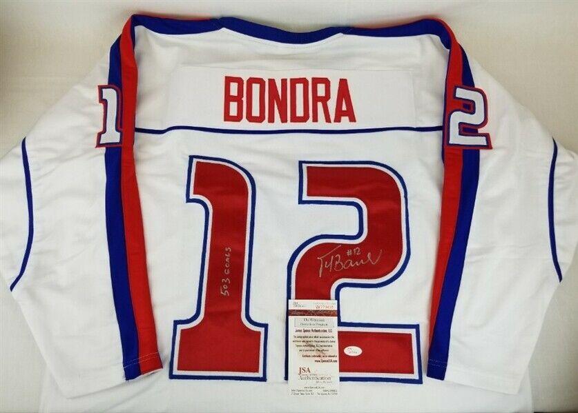 best service e405a 15a0b Peter Bondra 503 Goals Autographed Signed Memorabilia ...