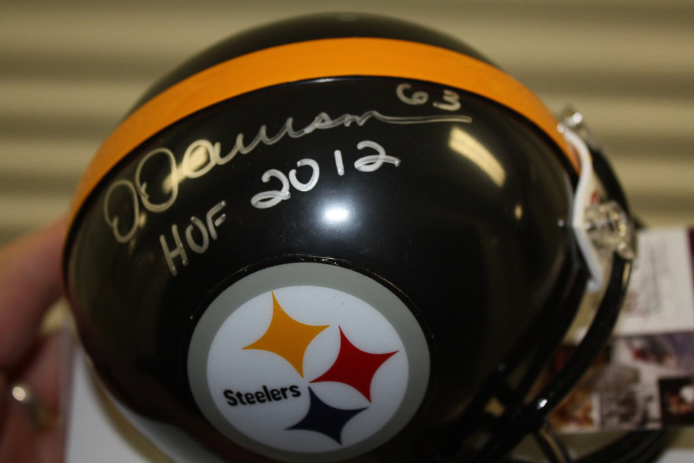 2f0e617c546 Pittsburgh Steelers Dermontti Dawson Autographed Signed Mini Helmet HOF 2012  Memorabilia - JSA Authentic. Loading Images...  163.99 Original