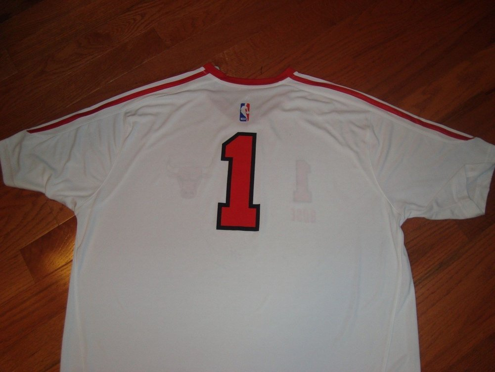 los angeles a2d2b b3463 Rare Rookie Chicago Bulls Derrick Rose Autographed Signed ...