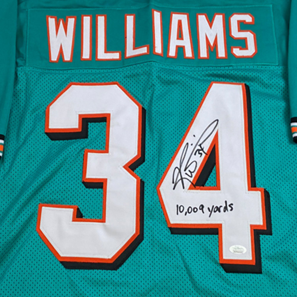 Ricky Williams Autographed Signed Teal Miami Dolphins Jersey with 10,009 Yards Inscription - JSA Authentic Image a