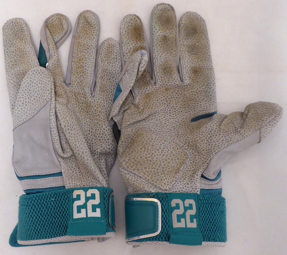 Robinson Cano Autographed Signed Seattle Mariners Game Used Nike Batting Gloves With Signed Certificate - Certified Authentic Image a