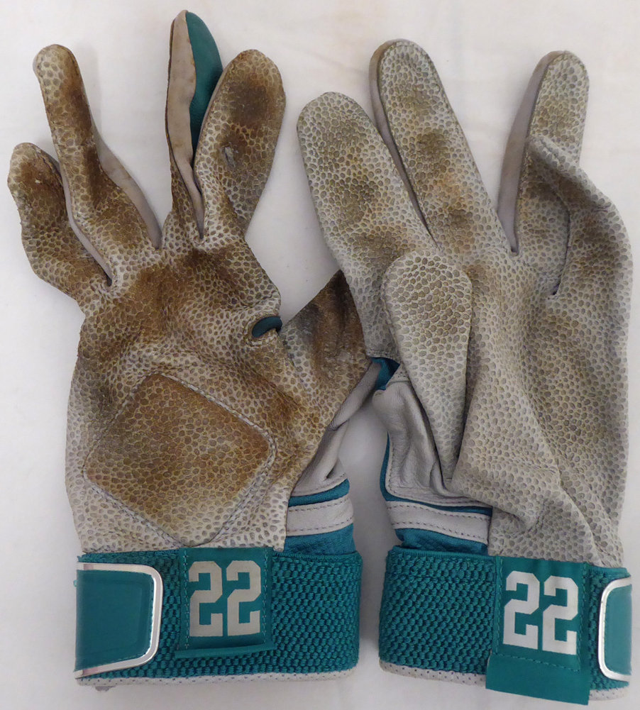 Robinson Cano Signed Seattle Mariners Game Used Nike Batting Gloves With Signed Certificate - Certified Authentic Image a