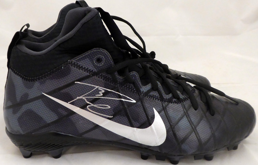 Russell Wilson Autographed Signed Nike Cleats Shoes Seattle Seahawks Rw Holo #36181 Image a