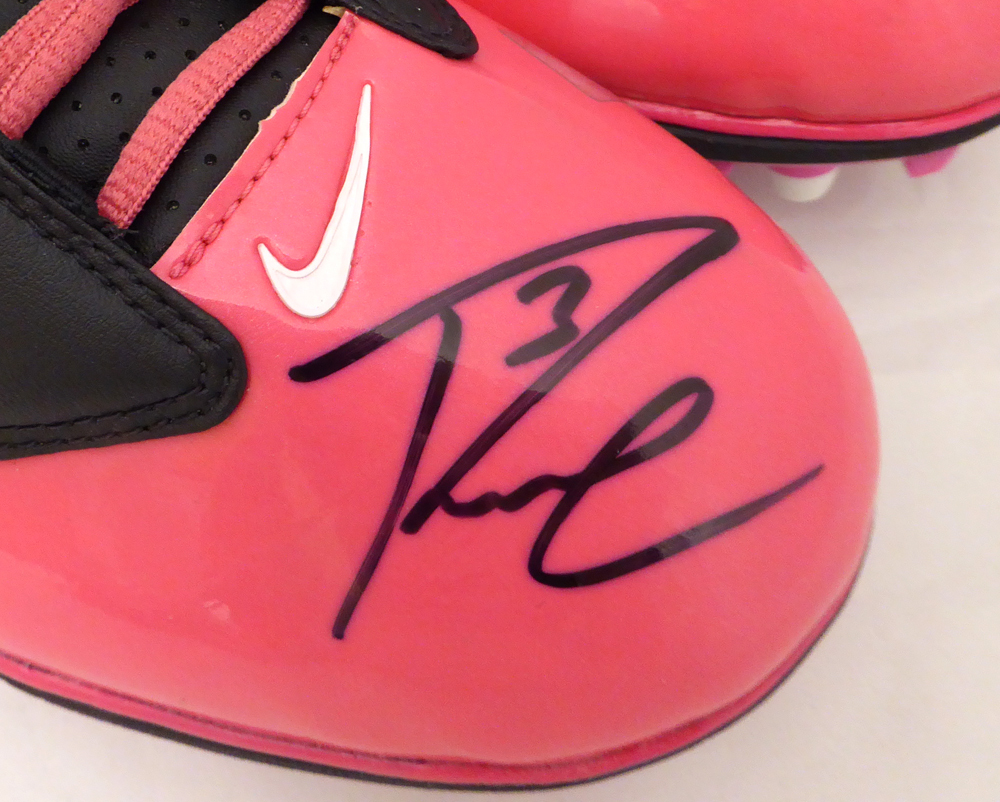 3771f51a68 Russell Wilson Autographed Signed Pink Nike Cleats Shoes Seattle Seahawks  RW Holo #42197 - Certified Authentic. Loading Images... $693.99 Price