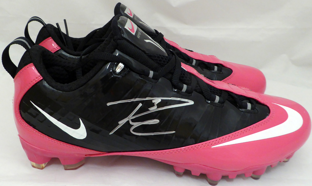 601d9f9ad4 ... Russell Wilson Autographed Signed Pink Nike Cleats Shoes Seattle  Seahawks RW Holo Stock #130718 -