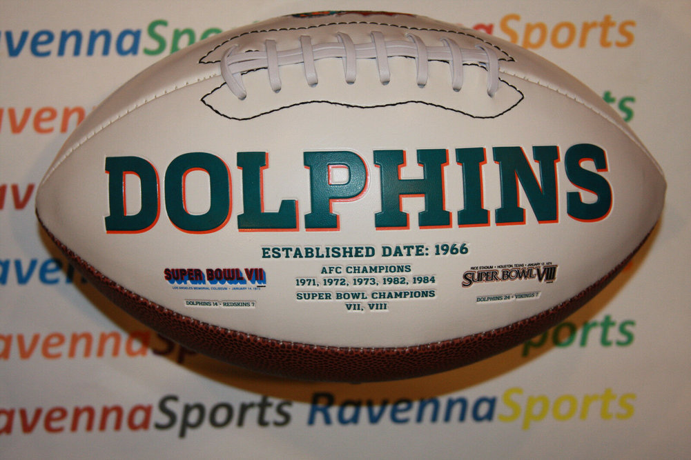 Ryan Tannehill Autographed Signed Miami Dolphins Logo Football PSA Itp Image a