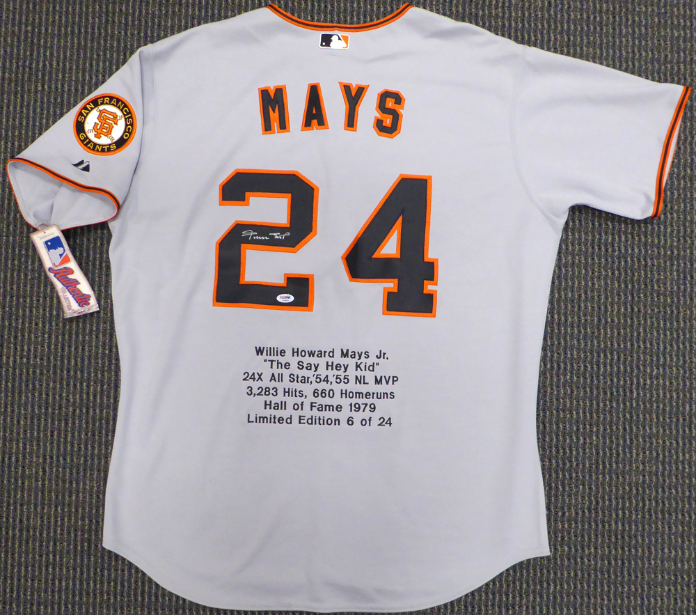 info for a4e7e a9bde San Francisco Giants Willie Mays Autographed Signed Cream ...