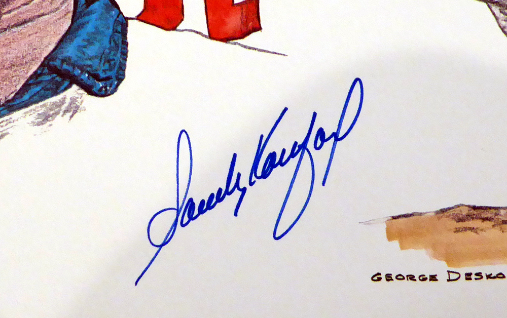 Sandy Koufax Autographed Signed Auto 18x24 Lithograph Los Angeles Dodgers - Beckett Certified Image a