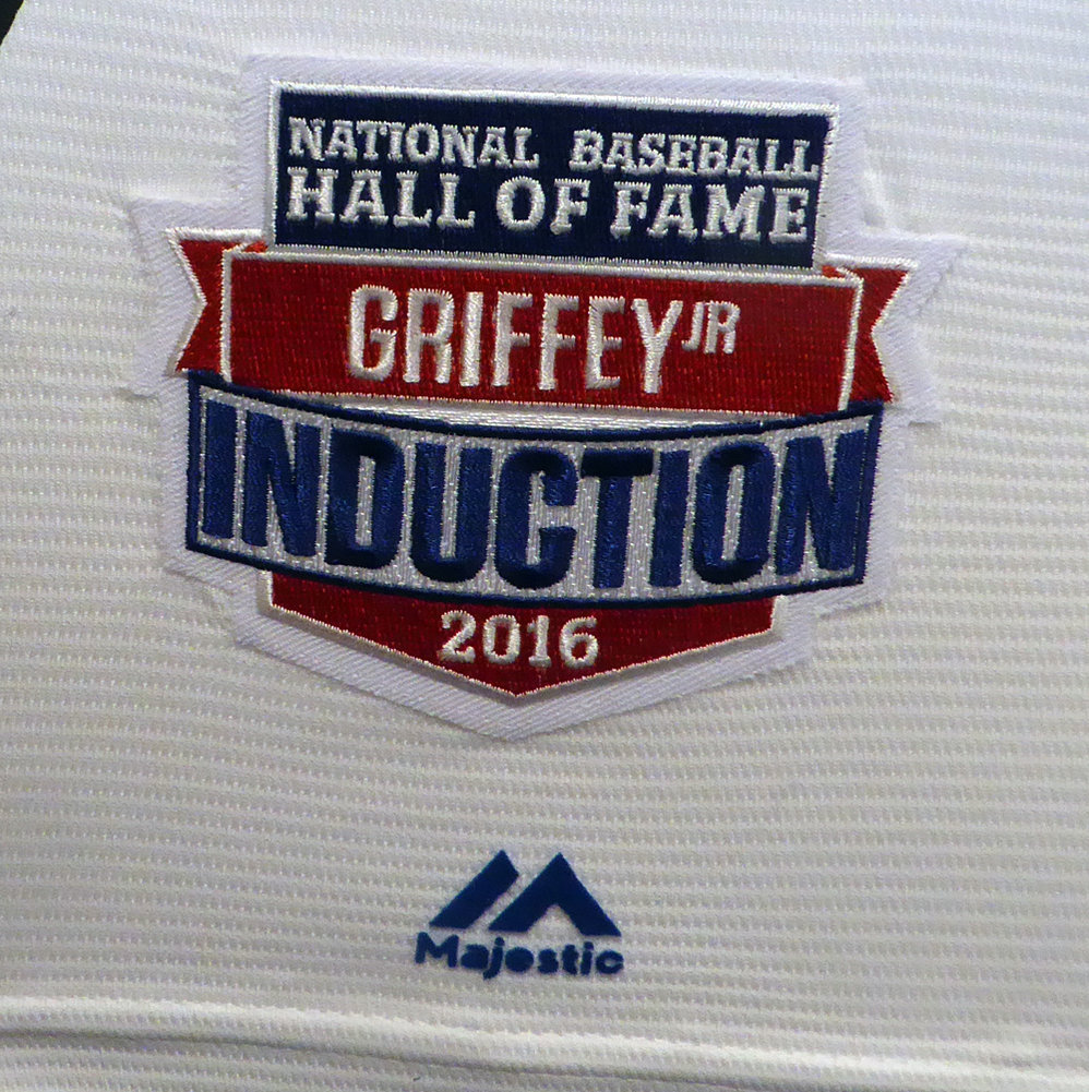 427417e19 Seattle Mariners Ken Griffey Jr. Autographed Signed Framed White Majestic  Throwback Jersey HOF 16 HOF Patch - Beckett Authentic. Loading Images...   1955.99 ...