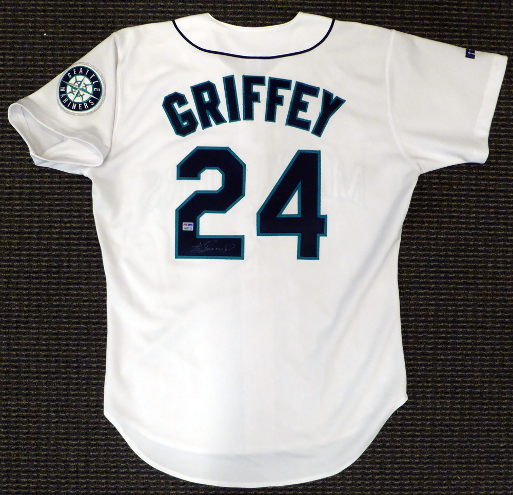 cheap for discount fb854 25f44 Seattle Mariners Ken Griffey Jr. Autographed Signed White ...