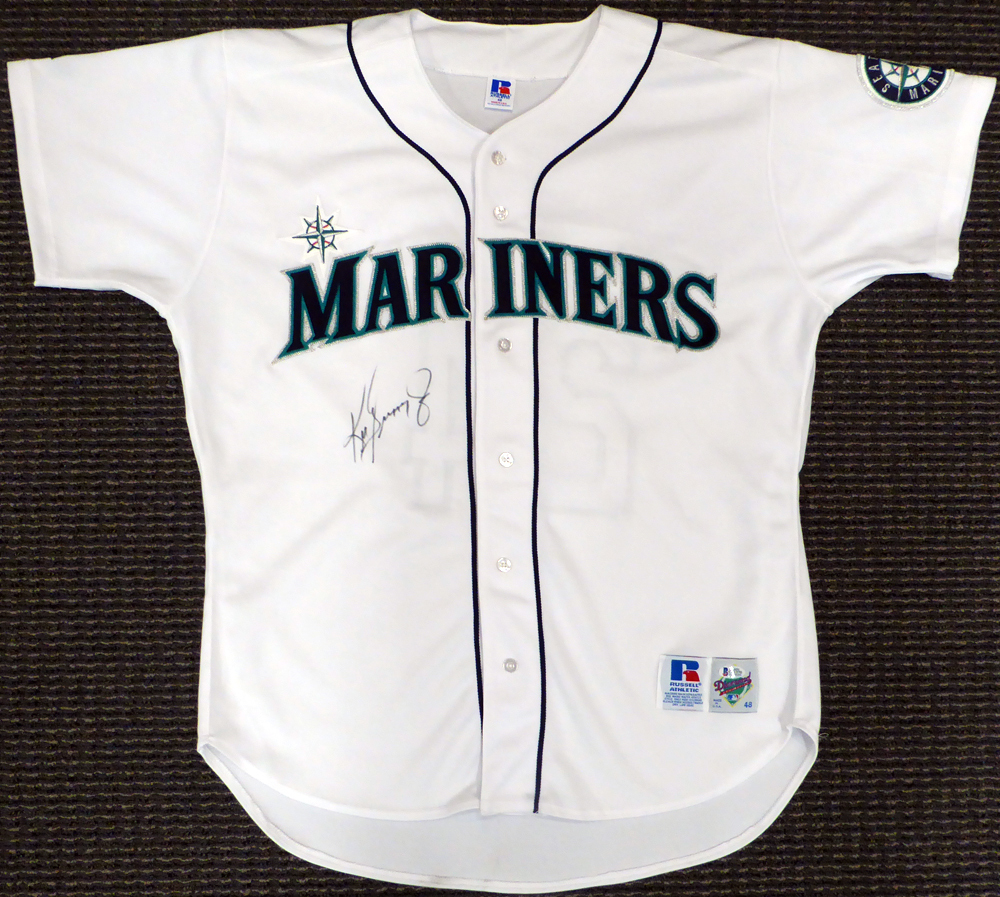 cheap for discount c2a35 fcc6e Seattle Mariners Ken Griffey Jr. Autographed Signed White ...