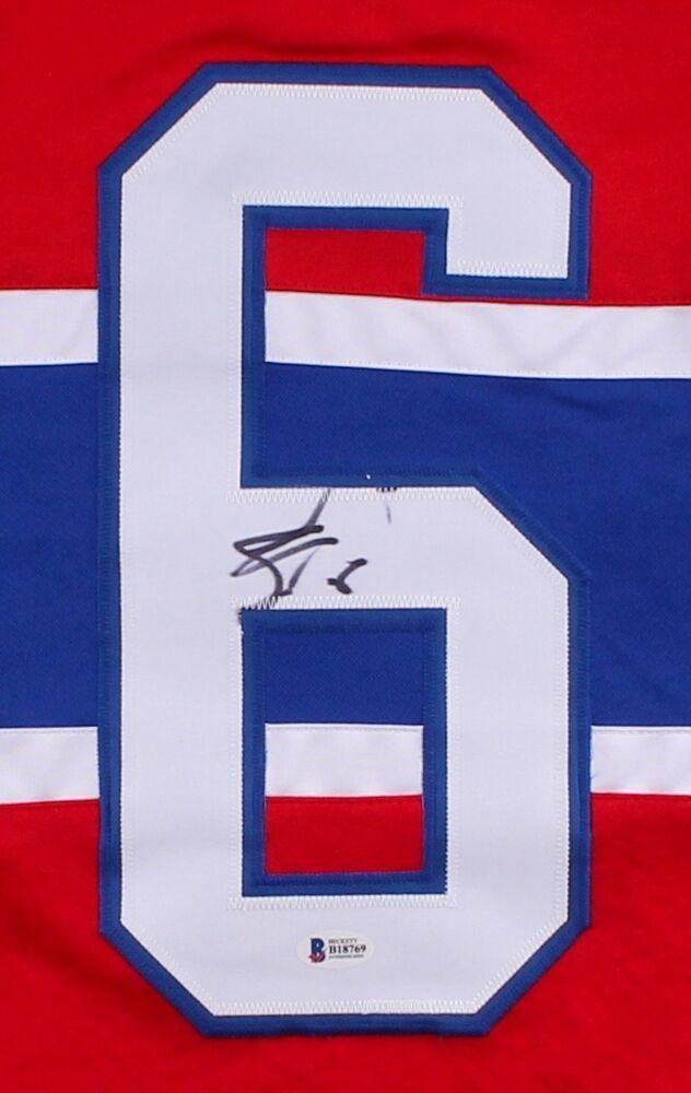 Shea Weber Autographed Signed Canadiens Jersey (Beckett) 49Th Overall Pick 2003 NHL Draft Image a