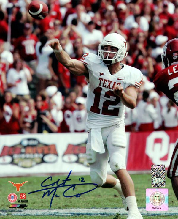 Signed Colt McCoy Autographed 8x10 Photo Texas Longhorns CM Holo Stock #76069 Image a