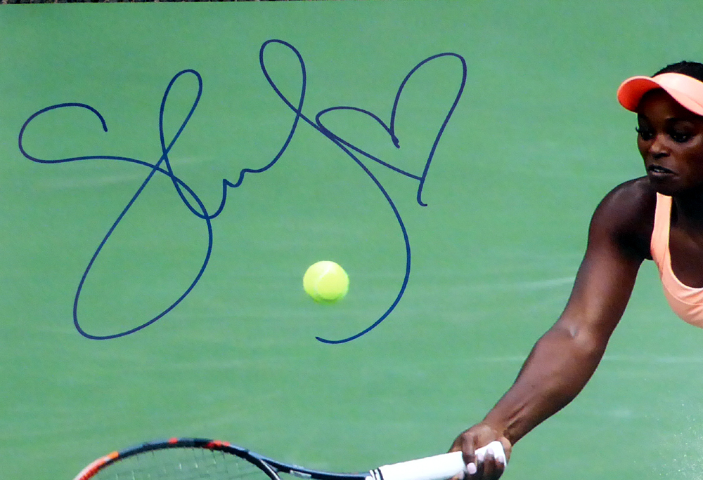Sloane Stephens Autographed Signed 16x20 Photo - Beckett Authentic Image a