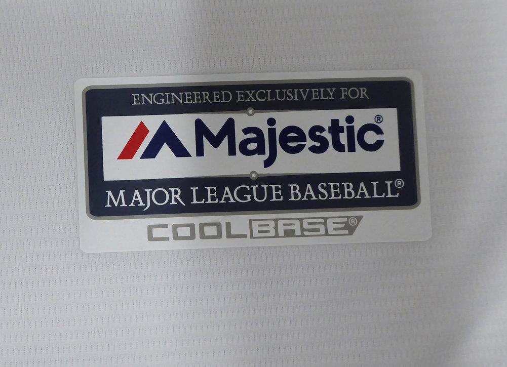 St. Louis Cardinals Yadier Molina Autographed Signed Majestic White Cool Base Jersey Size L JSA Image a