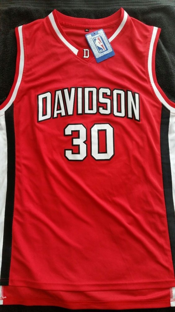 9e38a9562bbb Stephen Curry Autographed Signed Red Davidson Wildcats Jersey with Beckett  COA NBA Warriors - Size XL. Loading Images...  871.99 Price