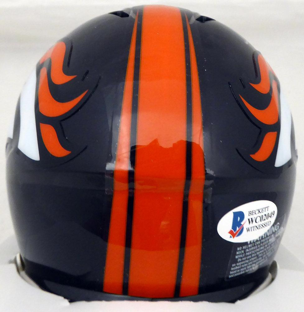 Steve Atwater Autographed Signed Denver Broncos Speed Mini Helmet Beckett BAS Image a