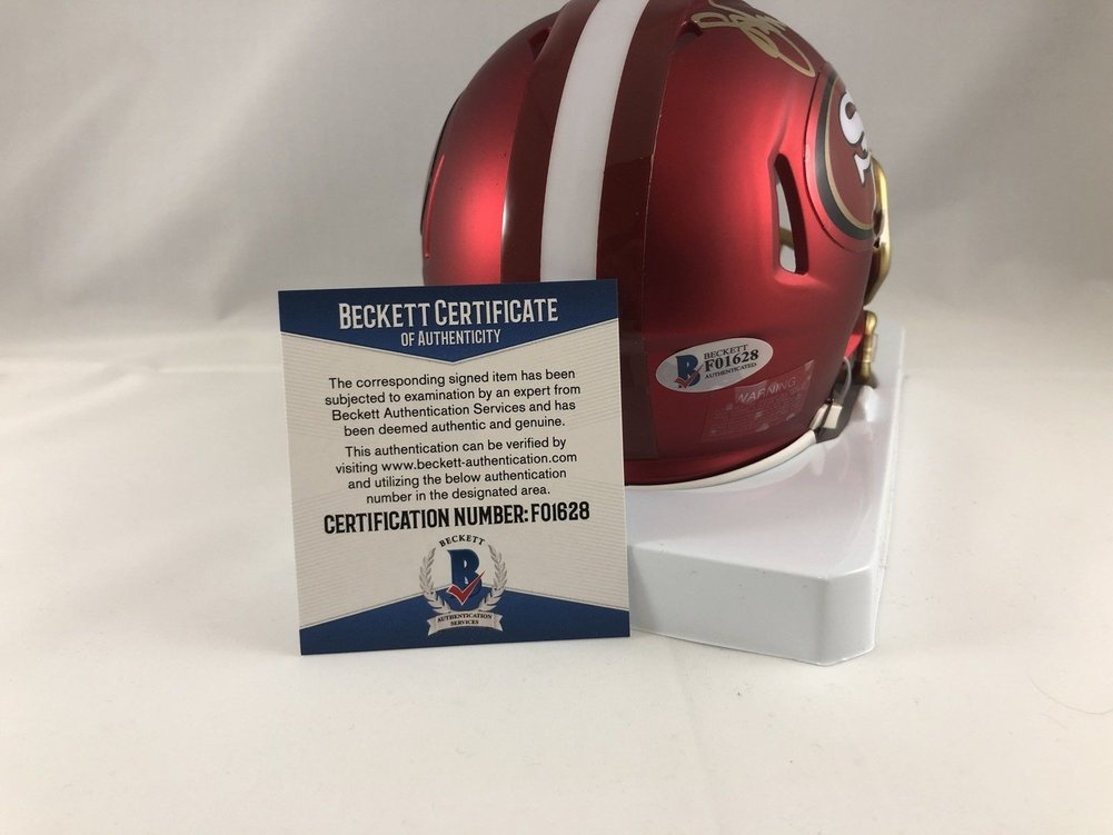 1420e56b634 Steve Young Autographed Signed San Francisco 49ers Mini Helmet Signature - Beckett  Authentic. Loading Images...  612.99 Price