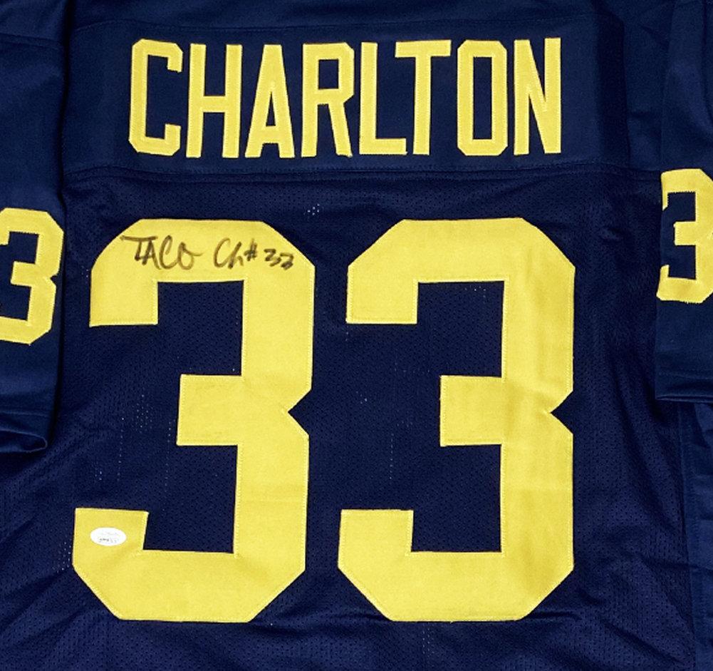 Taco Charlton University of Michigan Autographed Signed Custom Jersey - JSA Authentic Image a