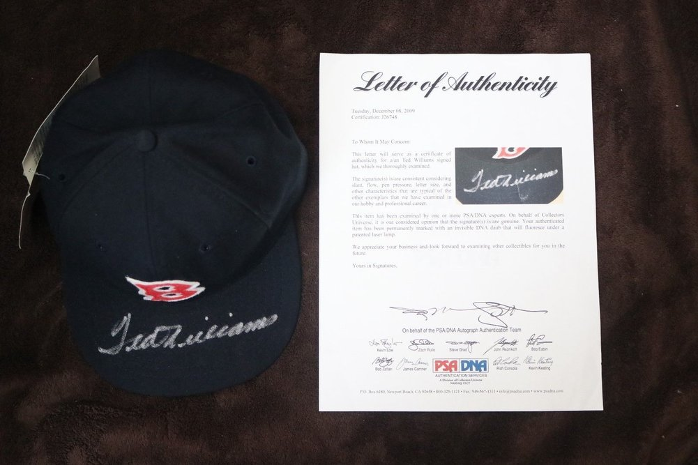 f38f873ba2b Ted William Autographed Signed Boston Red Sox Hat In Protective Case  PSA DNA Authenticated. Loading Images...  1438.99 Price