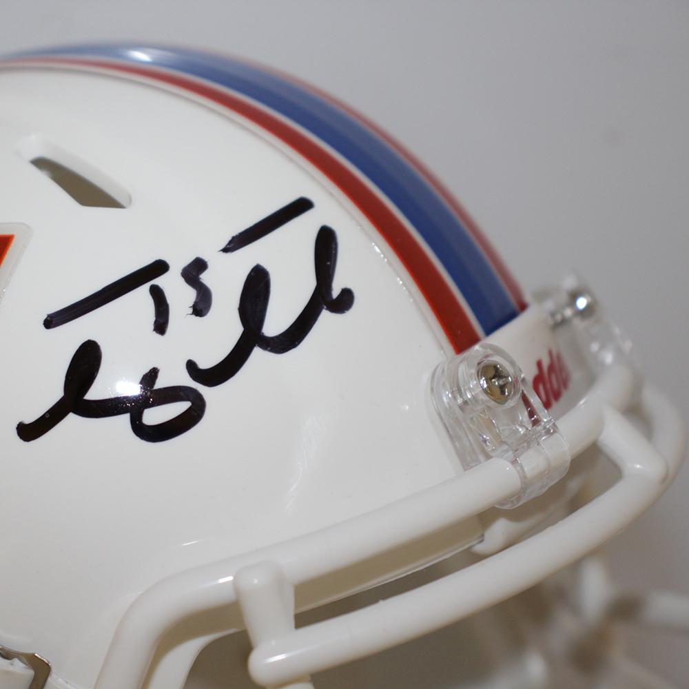 Tim Tebow Autographed Signed Florida Gators White Riddell Speed Mini Helmet - Tebow Hologram Image a