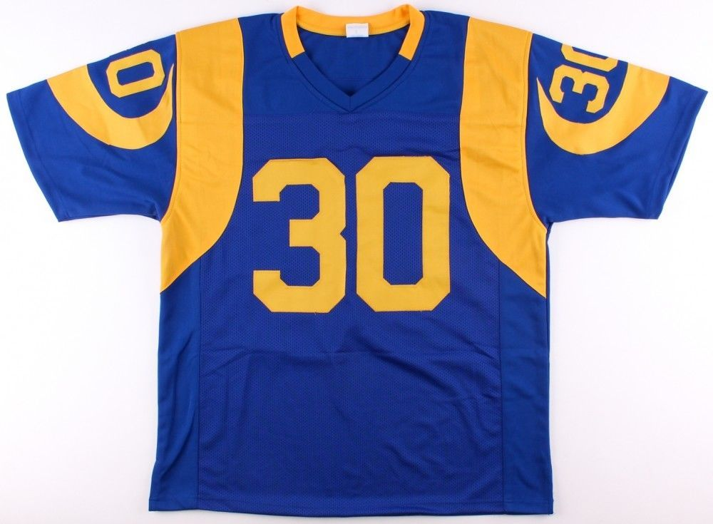 Todd Gurley Autographed Signed Los Angeles St Louis Rams Blue Yellow ... 779386e62