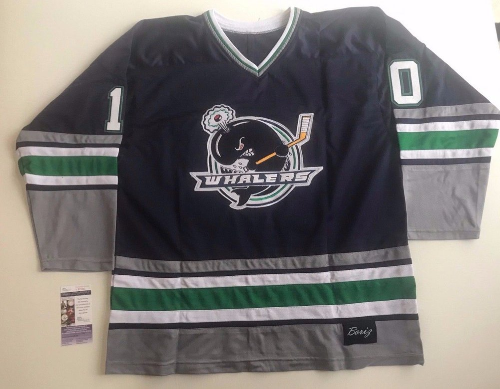 super popular 08458 a60e9 Tom Wilson Capitals Jersey Plymouth Whalers Autographed ...