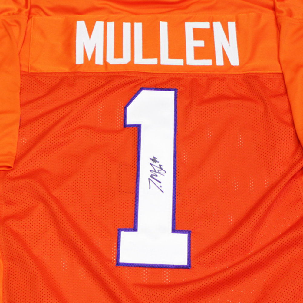 Trayvon Mullen Autographed Signed Clemson Tigers Orange #1 Custom Jersey - Certified Authentic Image a