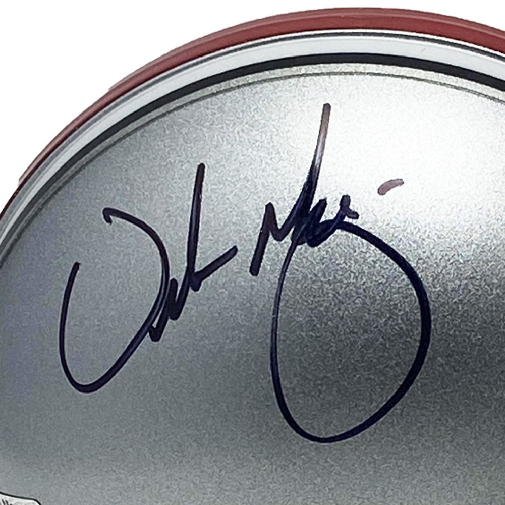 Urban Meyer Autographed Signed Ohio State Buckeyes Mini Helmet - Certified Authentic Image a