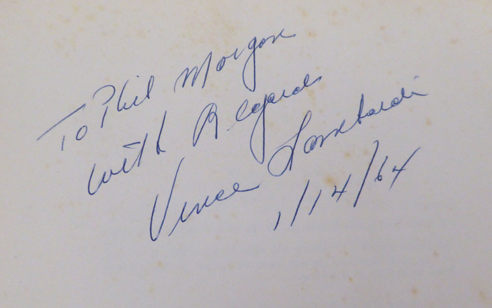 Vince Lombardi Autographed Signed Auto Book Green Bay Packers To Phil Morgan - Beckett Certified Image a