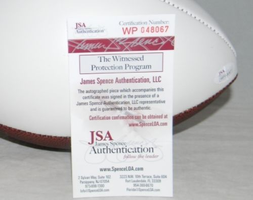 4285f360695 Walt Garrison Autographed Signed Dallas Cowboys White Logo Football JSA.  Loading Images... $216.99 Price