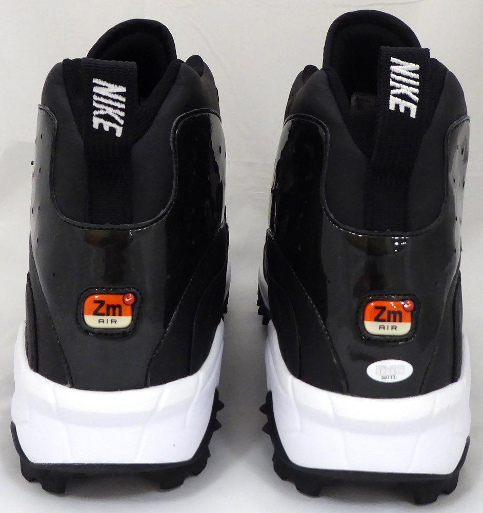 Walter Jones Autographed Signed Nike Cleats Shoes Seattle Seahawks Black / White MCS Holo Stock #158442 Image a