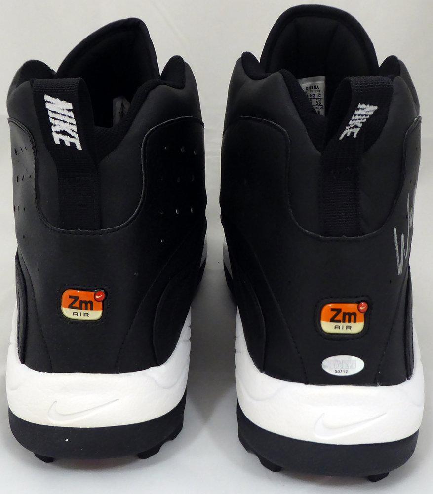 Walter Jones Autographed Signed Nike Cleats Shoes Seattle Seahawks Black / White MCS Holo Stock #158443 Image a