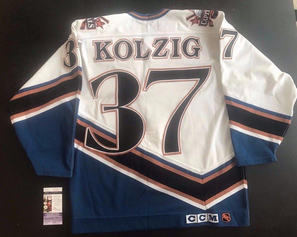 15ac906d6b7 Washington Capitals Jersey Olaf Kolzig Autographed Signed Ccm On -Ice Size  48 - JSA Authentic Memorabilia. Loading Images...  239.99 Price