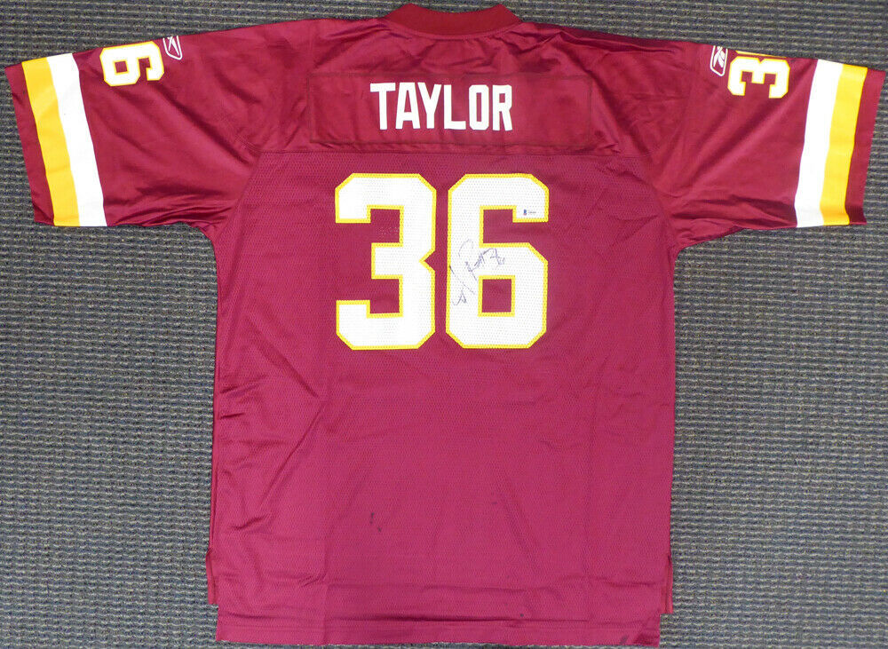 the latest 225bc 95daf Washington Redskins Sean Taylor Autographed Signed Reebok ...