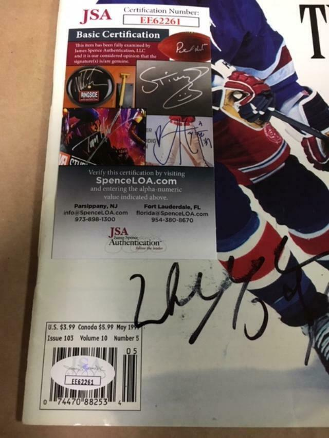 Wayne Gretzky Autographed Signed Hockey Beckett Magazine With JSA COA Image a