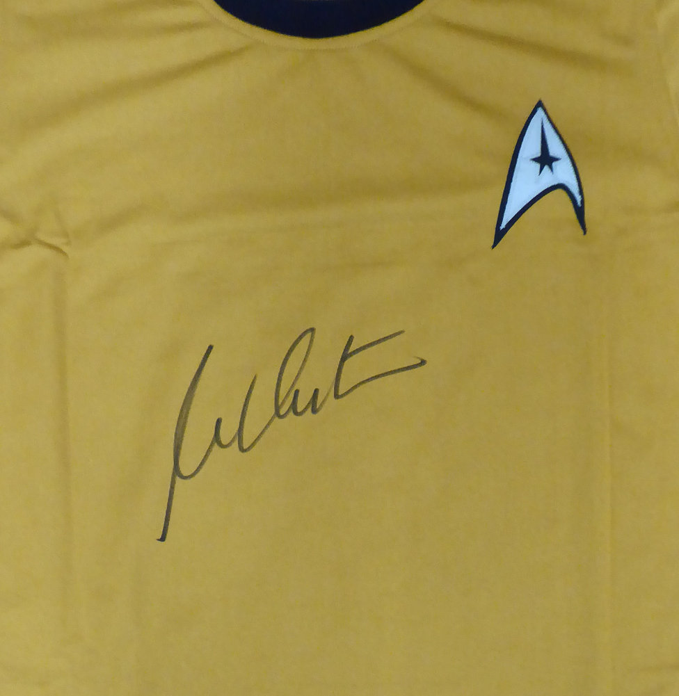William Shatner Autographed Signed Framed Star Trek Uniform Shirt JSA Stock #160686 Image a