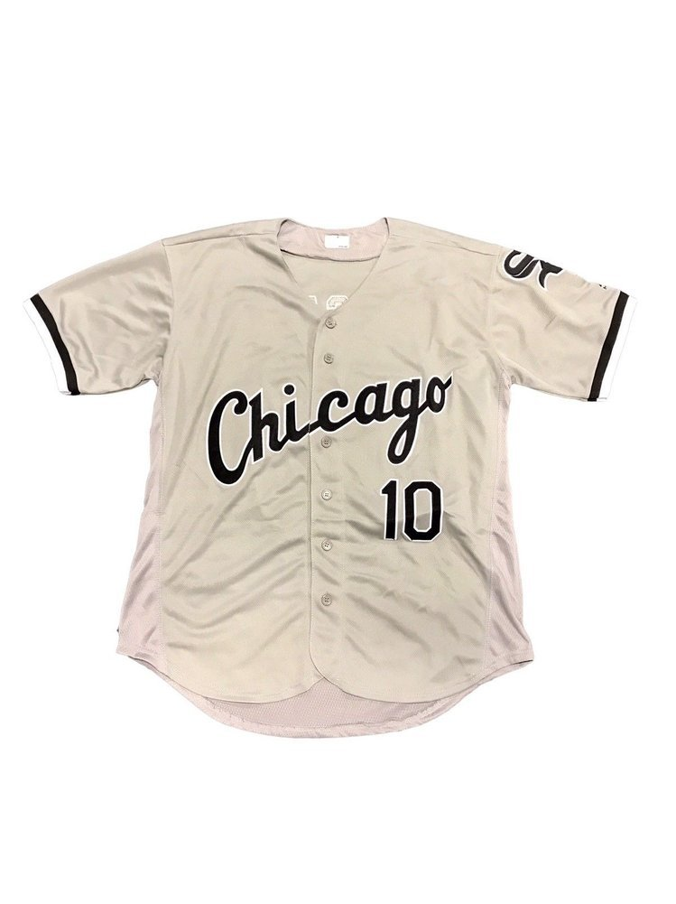 on sale 7f22c bc2c6 Yoan Moncada Chicago White Sox Away Gray Autographed Signed ...