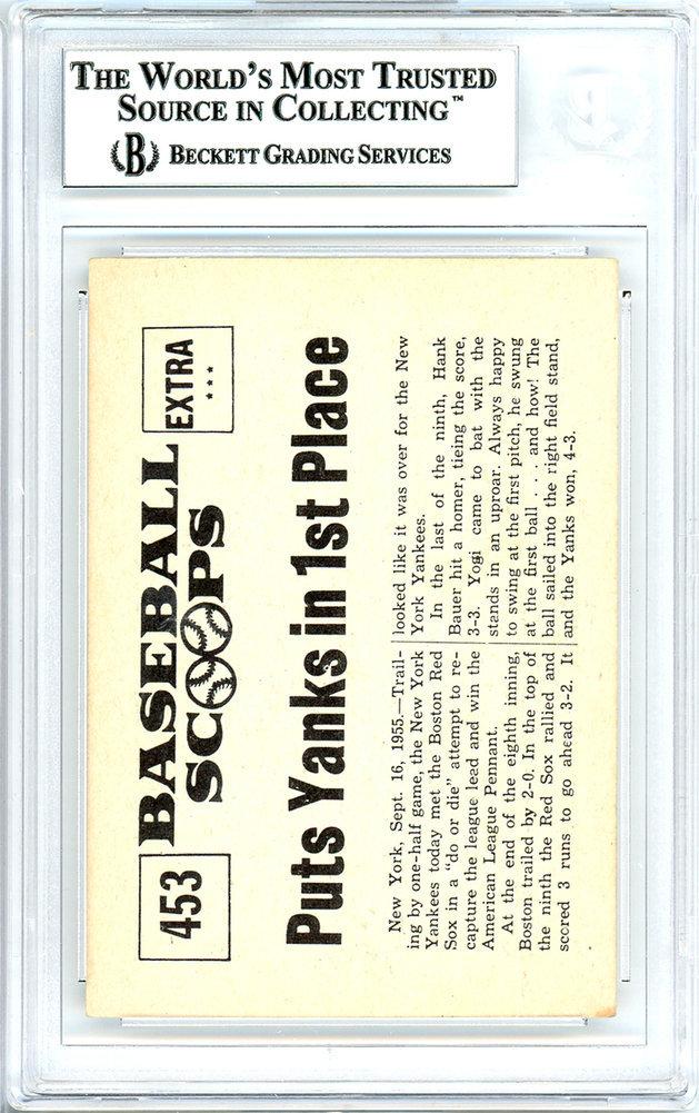 Yogi Berra Autographed Signed 1961 Nu Card Baseball Scoops