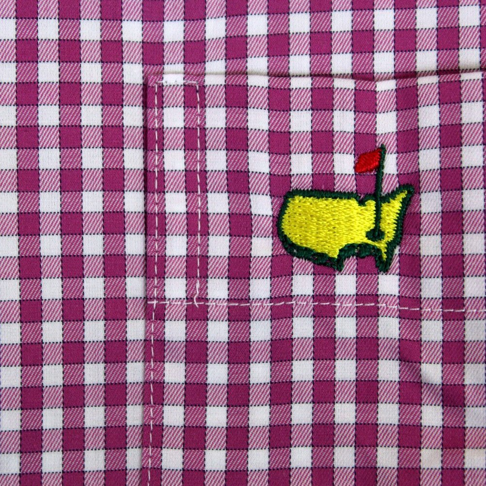 Masters Peter Millar Dress Shirt - Rosebud Checkered Pattern Image a