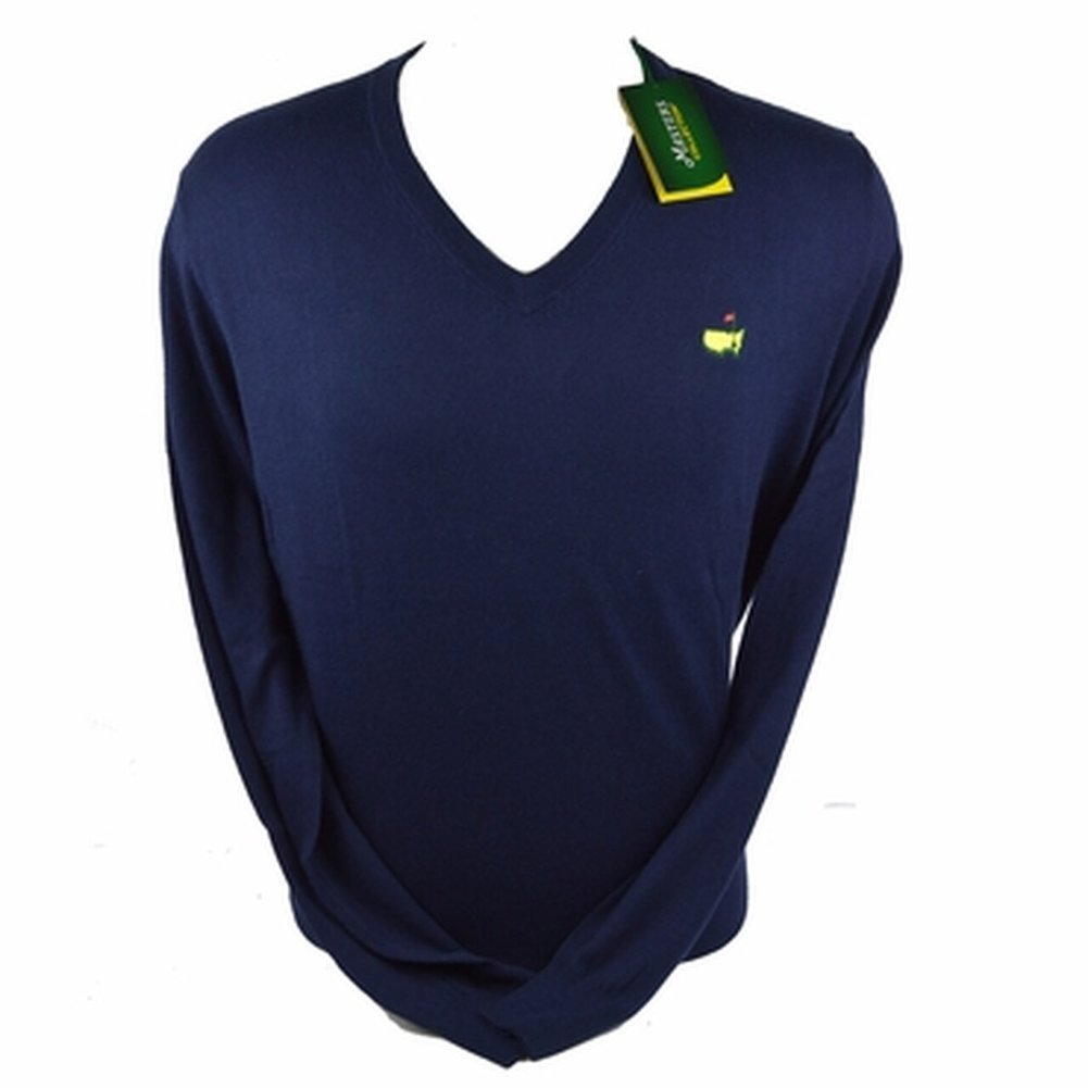 Masters V Neck Long Sleeve Sweater - Navy Image a