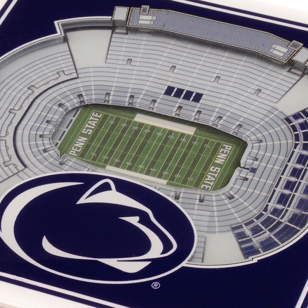 Penn State 3D StadiumView 2 Pack Drink Coasters Image a