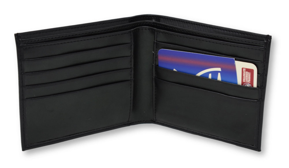 Penn State  Black Genuine Leather Wallet   Image a