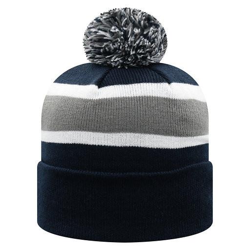 Penn State Hockey Pom Knit Hat Image a