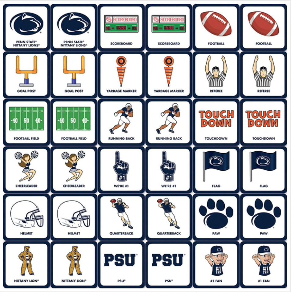 Penn State Matching Game  Image a